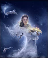 Princess Of Cups - Tarot by 1simplemanips1
