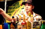 Man selling beverages