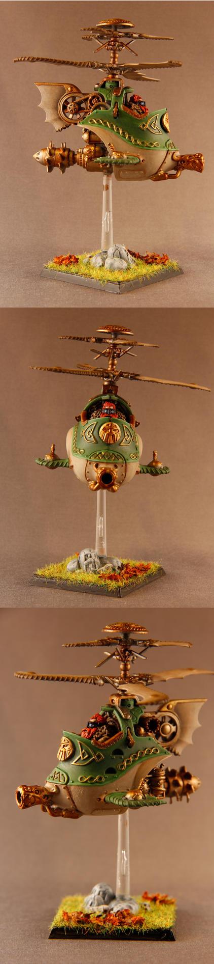 Dwarven Gyrocopter by pheven