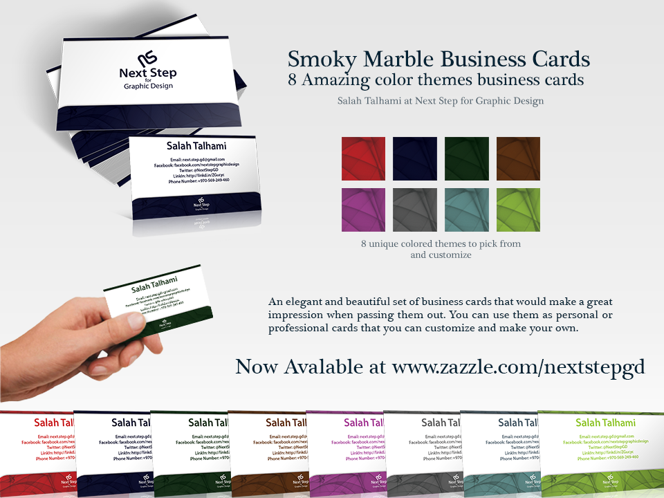 Smoky Marble Business Cards by nextstepdg on DeviantArt