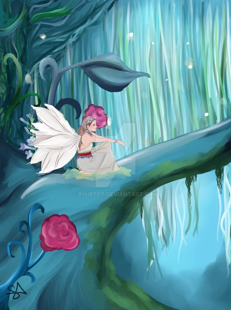 Woodland Fairies by pixiepot