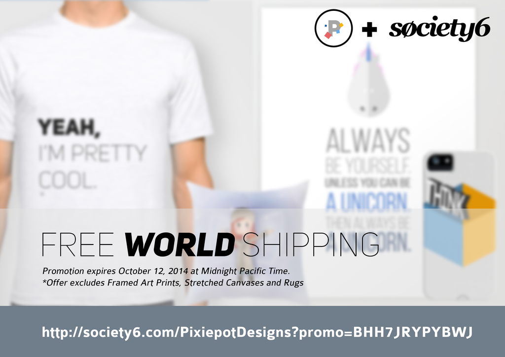 WORLDWIDE FREE SHIPPING by pixiepot