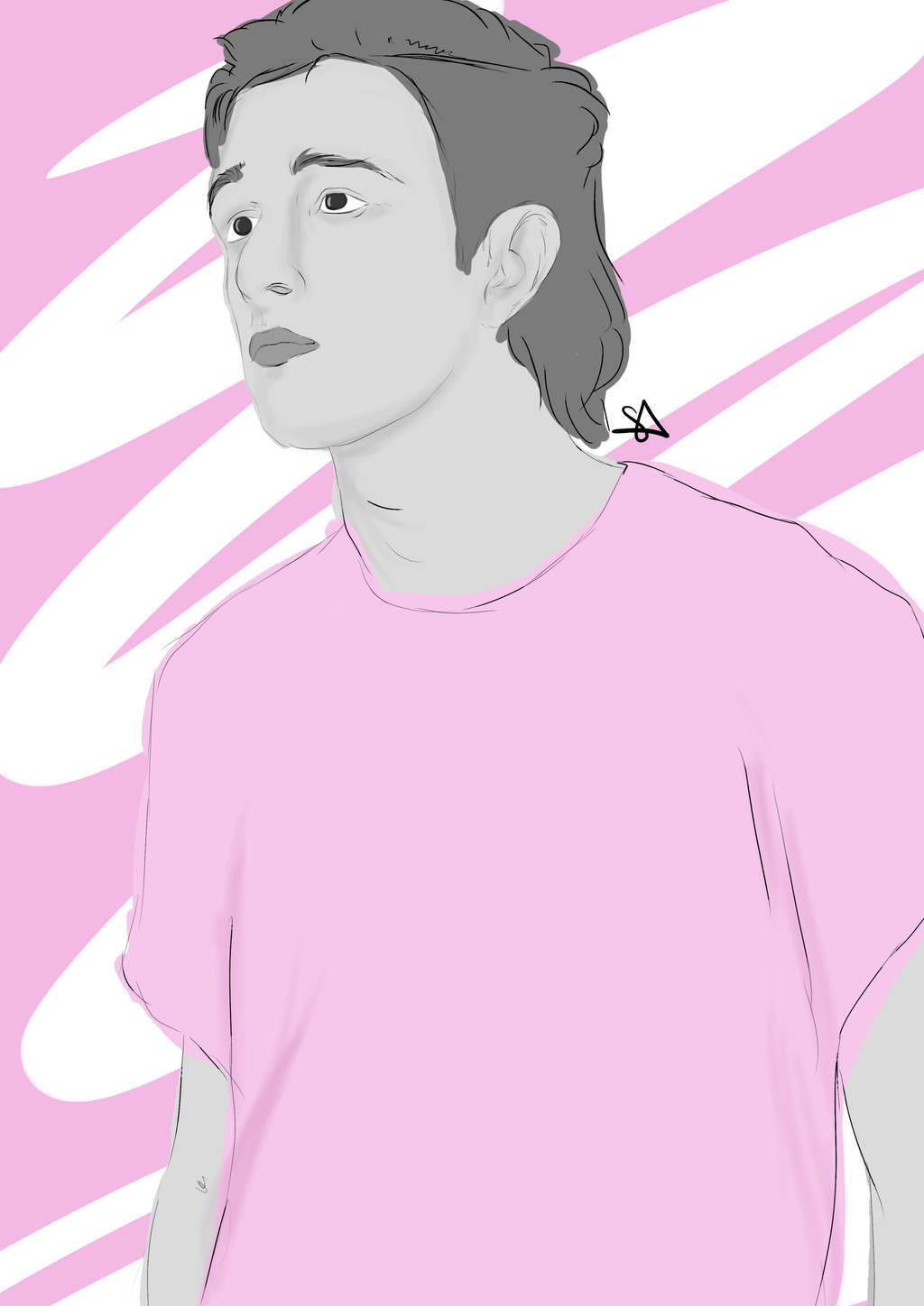Matty Healy - Pink by pixiepot