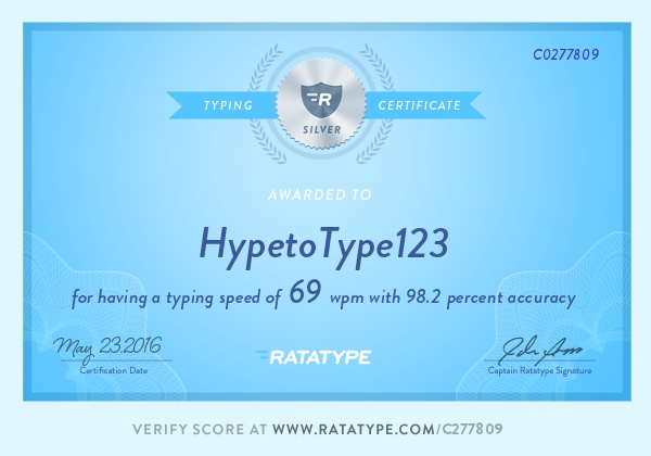 Typing Certificate 2 by YourDoseOfBadTimes on DeviantArt