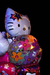Hello Kitty Balloons by PrimaDonna77