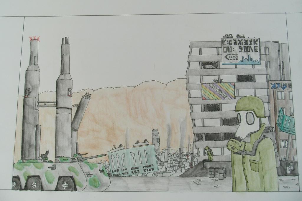 Post apocalyptic city by RobinXDude on DeviantArt