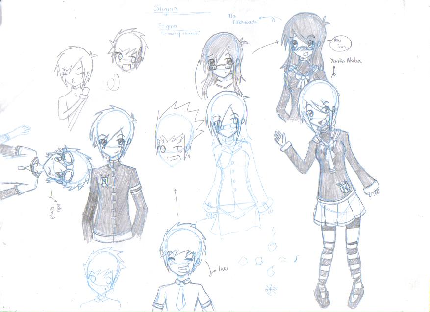 Elemental Sitgma, Character Design by Katsu-nyan