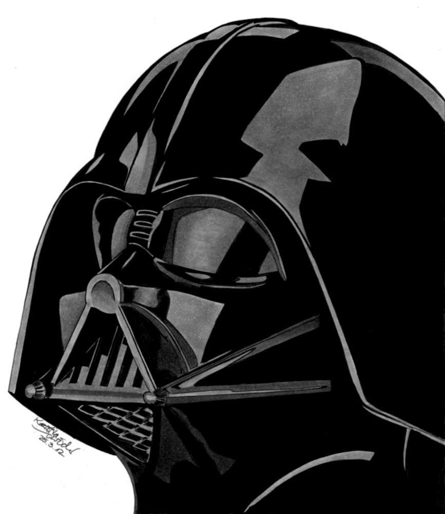 Darth Vader Face Vector