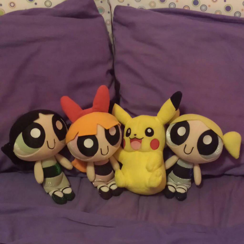 The Powerpuff Girls and Pikachu by PPGandJessie
