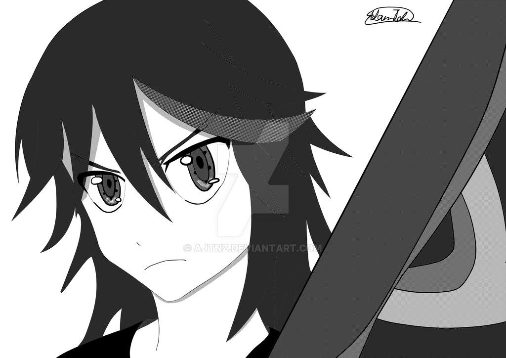 Ryuko (B+W Ver.) by Ajtnz