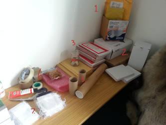 Preparing your postage! by PricklePaws