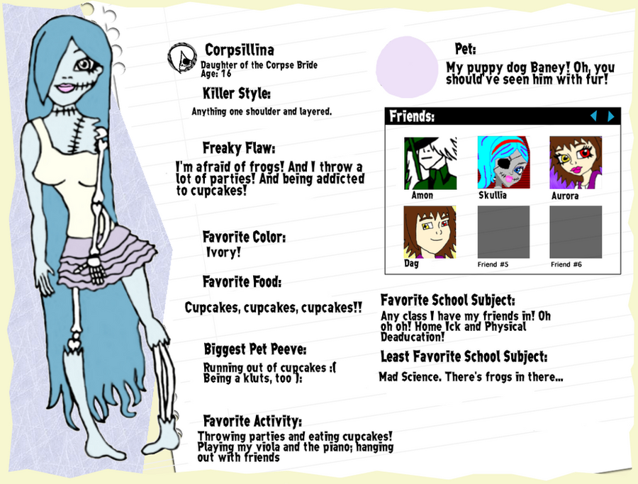 Corpsillina Character bio Sheet -Redone- by InvisibleDesire on ...