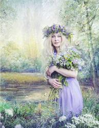 Flower Picking by SweetDreamsArt