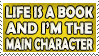 Life is a Book Stamp