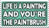 Life is a Painting Stamp 1