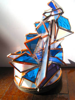 Decadent stained glass sculpture