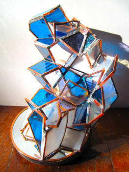 Decadent stained glass sculpture 2