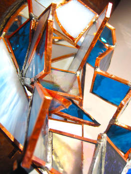 decadent detail stained glass sculpture