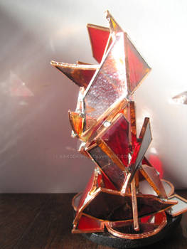 Ire stained glass sculpture