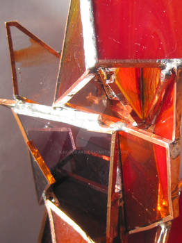 Ire stained glass sculpture detail