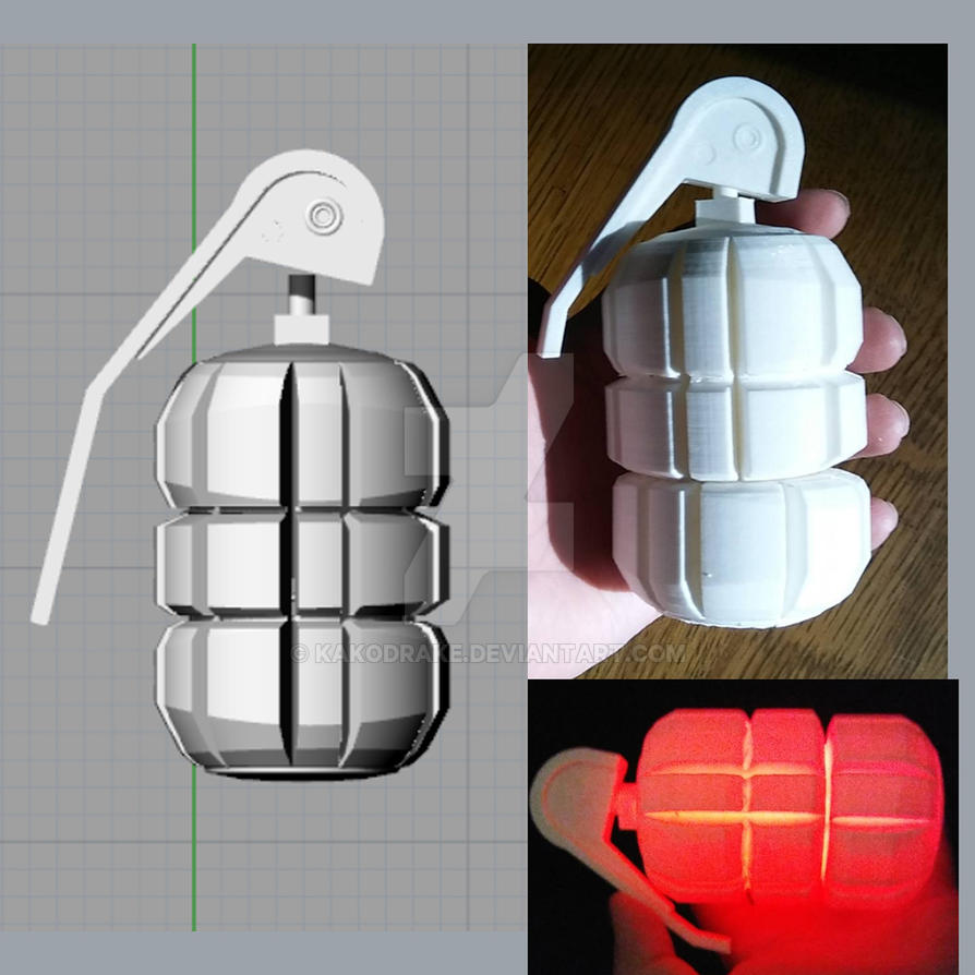 Borderlands Grenade 3D Printed by kakodrake