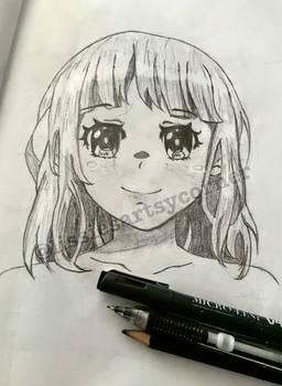 Random Anime Girl - Front view practice