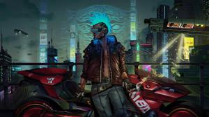 Cyberpunk 2077 - Your Night City llustration Entry
