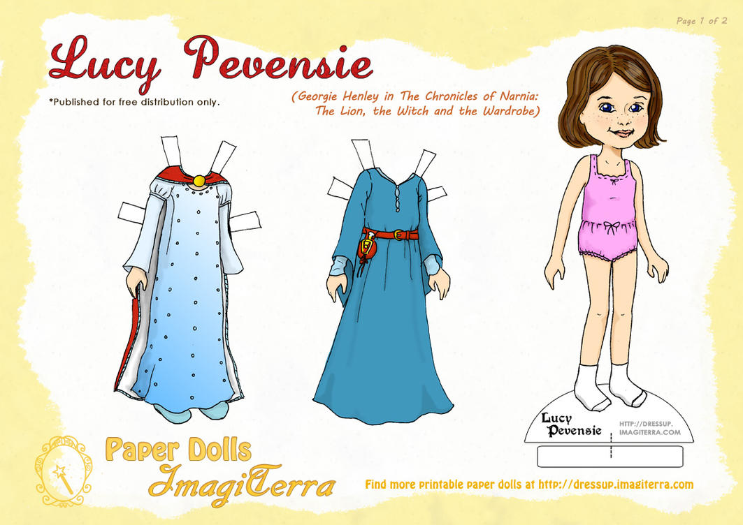 lucy pevensie paper doll by gianjos on deviantart