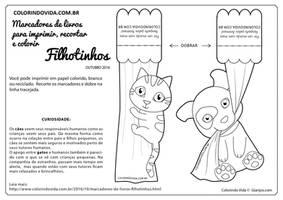 Puppy and Kitty Bookmarks - Marcadores de Livros