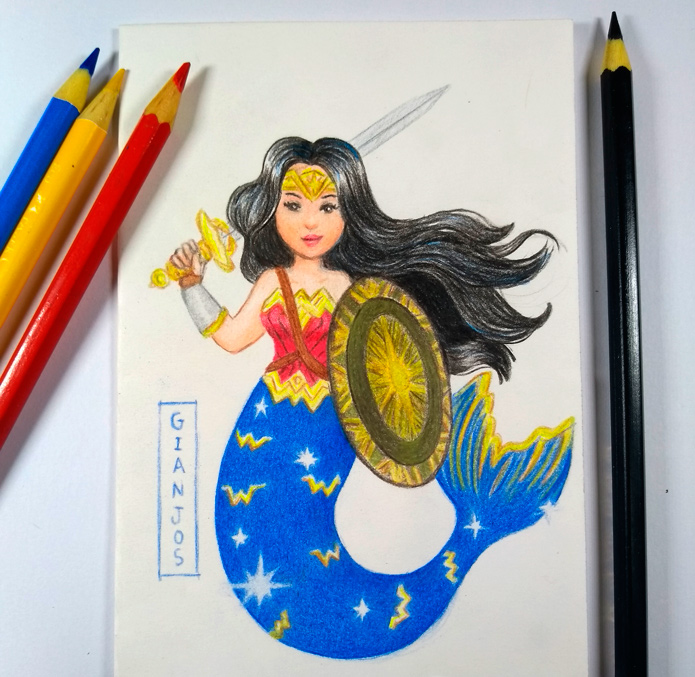 Wonder Woman Mermay by gianjos
