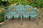 Ornate Iron Bench