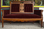 Antique Velvet Couch