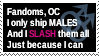 DA Stamp male-slash01 by portisHeart