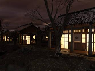 Fantasy Japanese Village - Kuro Neko