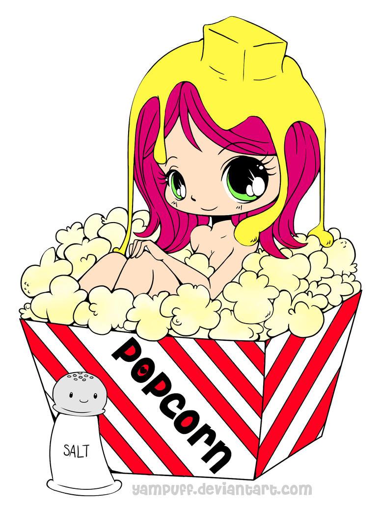 Popcorn Girl by TheSilentNeko