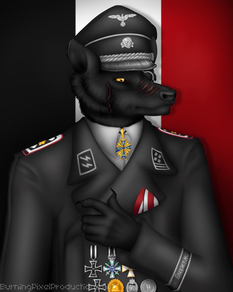 Prussian Wolf Officer by talonian on DeviantArt