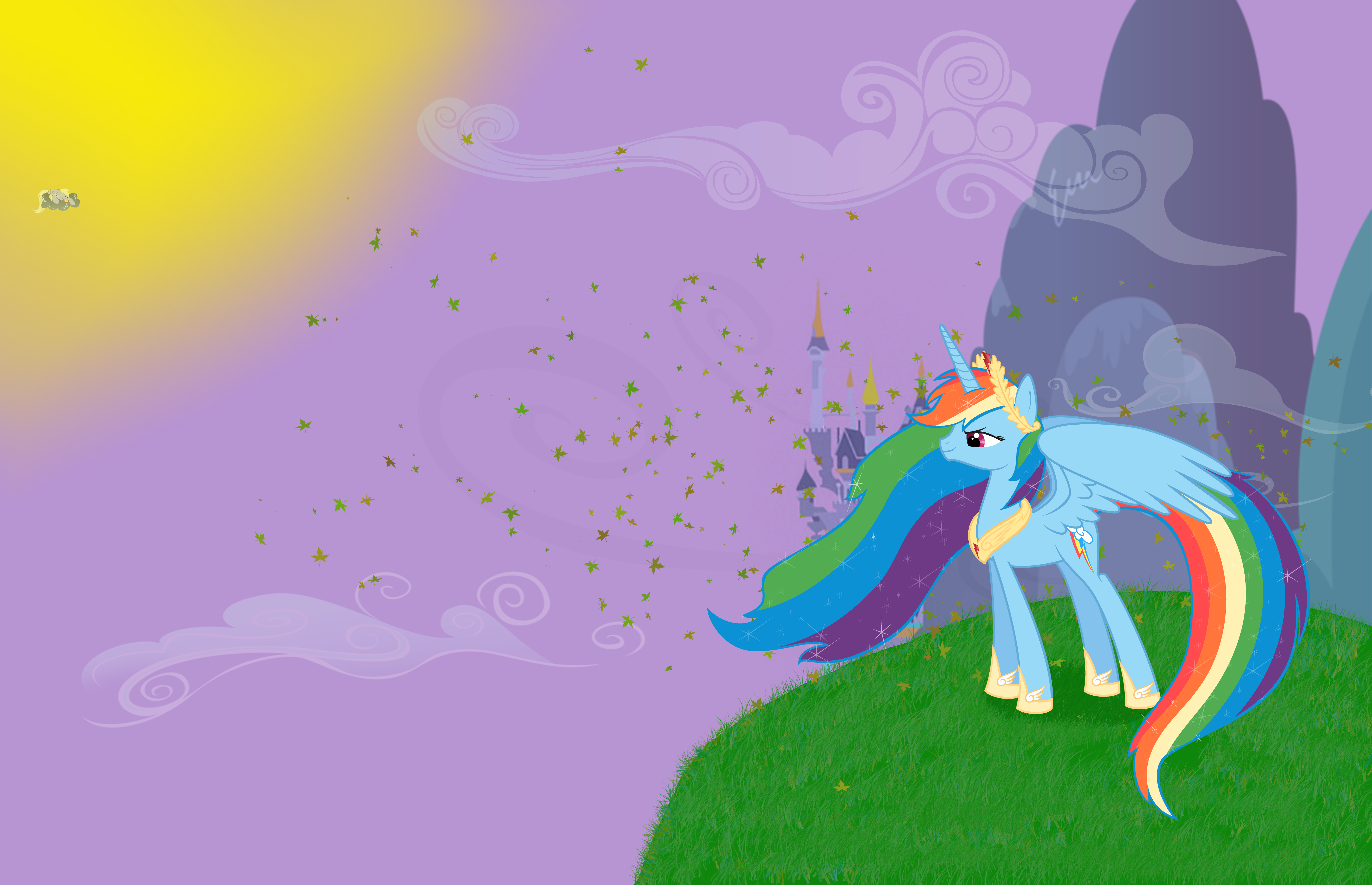 Princess Rainbow Dash Wallpaper By Lampknapp On Deviantart