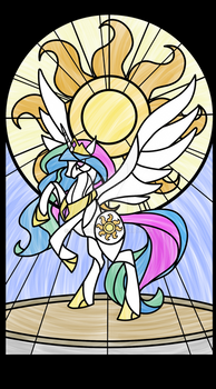 Celestia Stained Glass Window (transparent)
