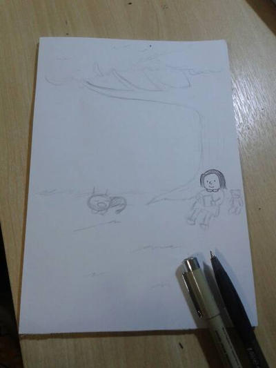 sketch: enriqueta, madariaga y fellini by Takako