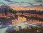 Sun Set at Grandpa's Pond