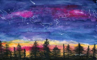 Zodiac on a Fall Sky by Jlombardi