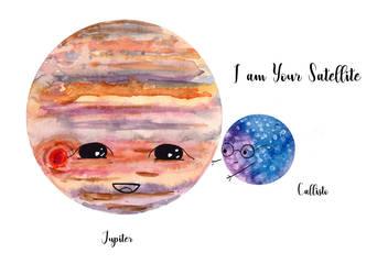 Jupiter and Callisto 3 by Jlombardi
