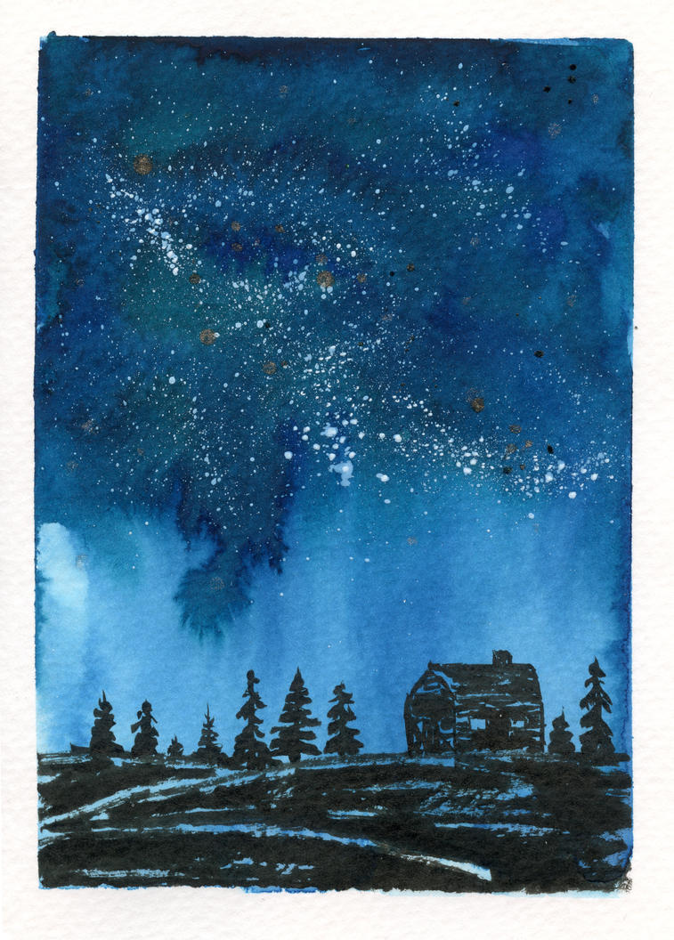 Starry Christmas Card 4 by Jlombardi