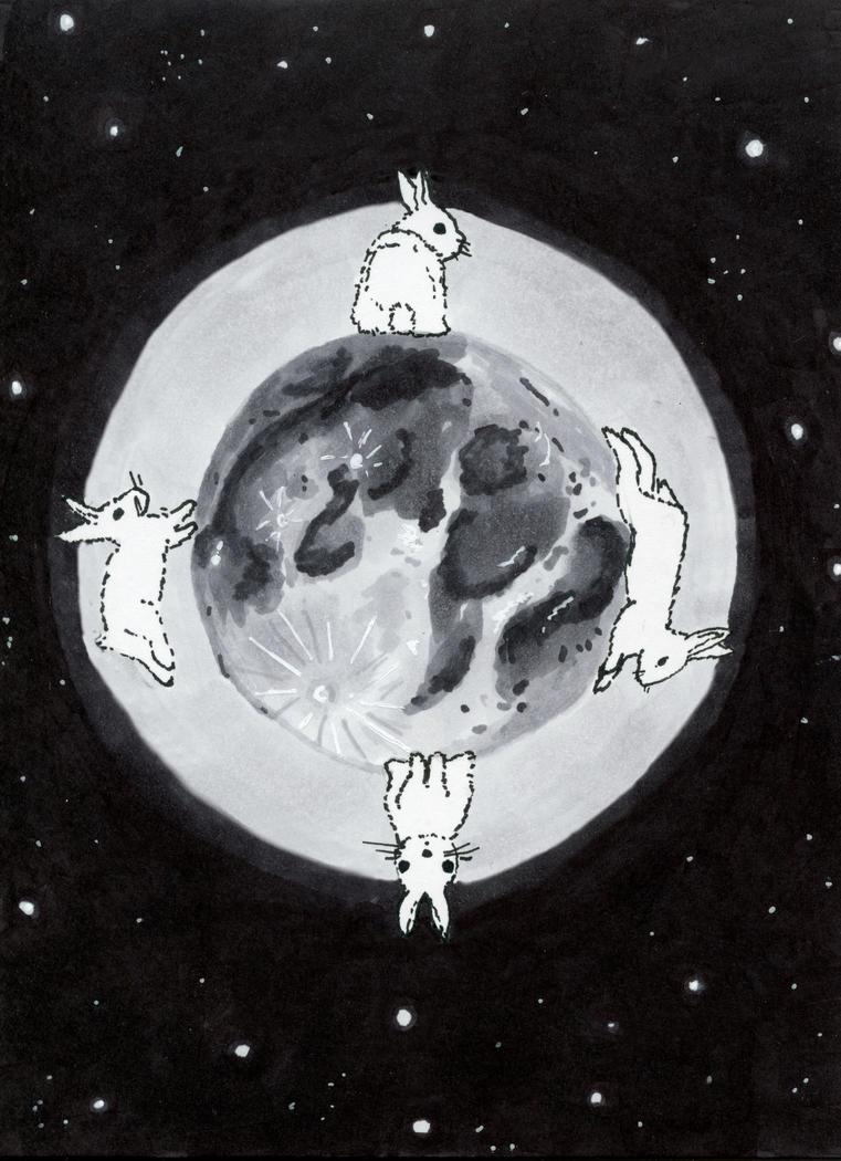 More Moon Rabbits by Jlombardi