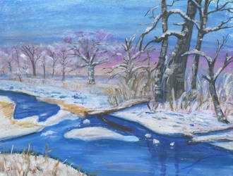 Winter Stream by Jlombardi