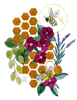 Busy Flower Bees