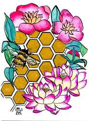 Golden Honey Comb