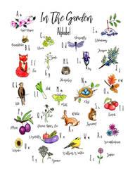 In the Garden Alphabet Chart