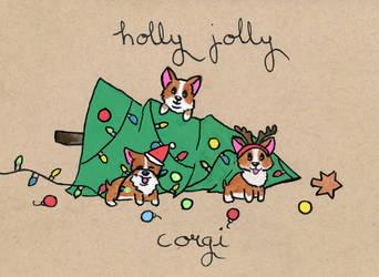 Holly Jolly Corgi Christmas!