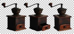 Vintage coffee grinder PNG by raduluchian